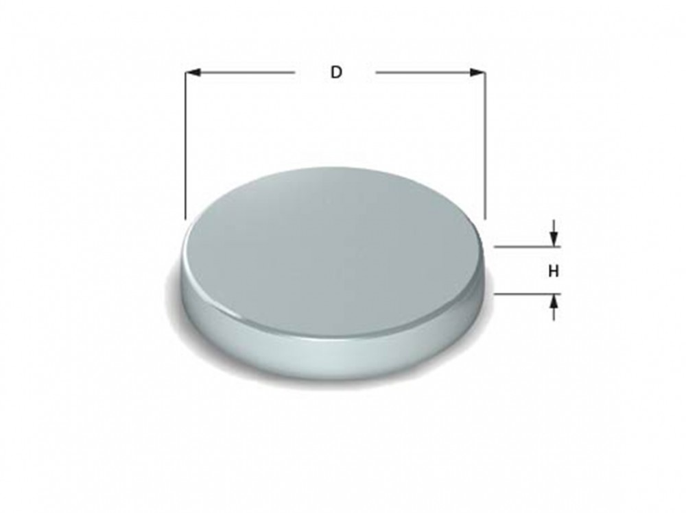 Round Disc Magnet Neodymium (Rare Earth), Nickel